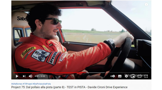 ALFA 75 PROJECT PART 8  - TEST IN PISTA  - AFRA - Davide Cironi - Engl. Sub. -